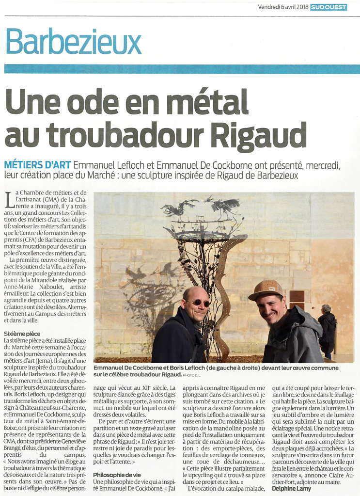 Sud-Ouest 6 avril 2018