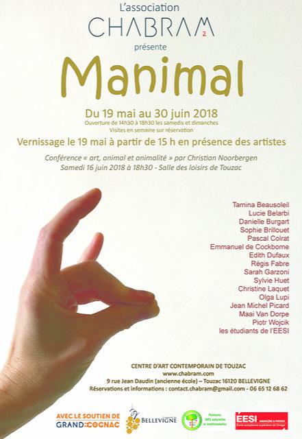 Expo collective Manimal au Centre d'art contemporain de Touzac