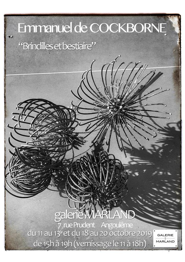 Affiche de l'expo dans la Galerie Marland, Angoulême, oct 2019